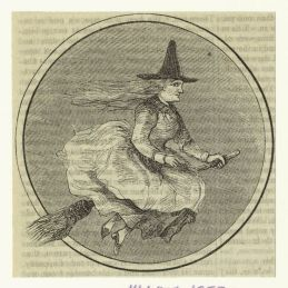 Witch illustration, October 1858, Harper's magazine