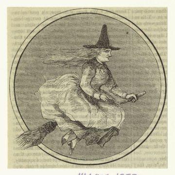 Witch illustration, October 1858, Harper's magazine