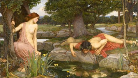 Eco y Narciso, pintura de John William Waterhouse (1903). Google Art Proyect
