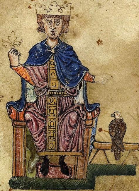 «Frederick II and eagle». Publicado bajo la licencia Dominio público vía Wikimedia Commons -