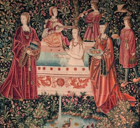 La tenture de la Vie Seigneuriale : Le Bain